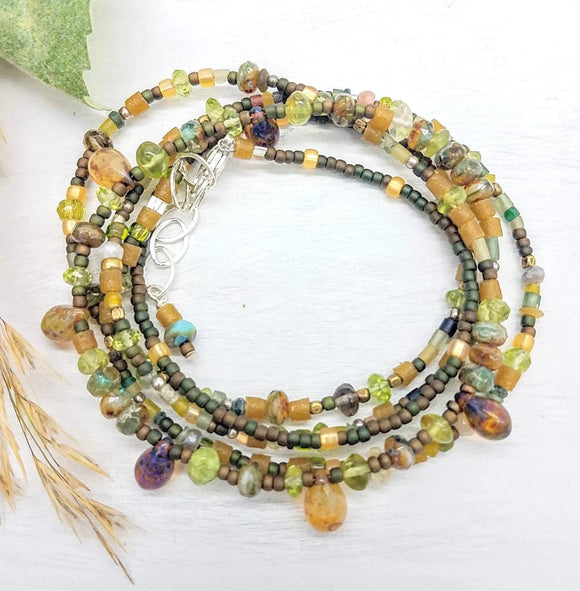 Wrap Beaded Bracelet Converts to a Necklace