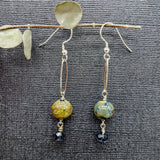 handmade bead lampwork earrings by impromptu jewelry