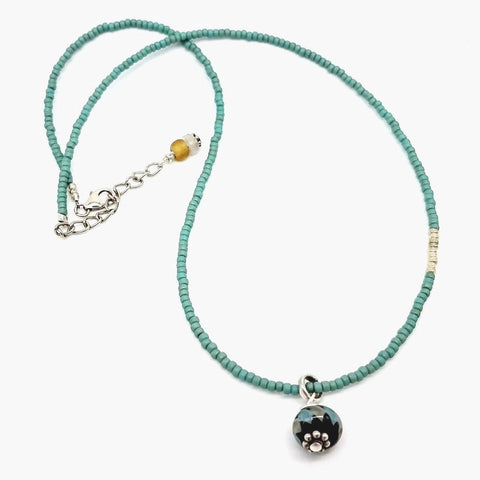 Sweet Caroline Glass Beaded Choker - Impromptu Jewelry