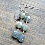 Labradorite earrings handmade by impromptu jewelry