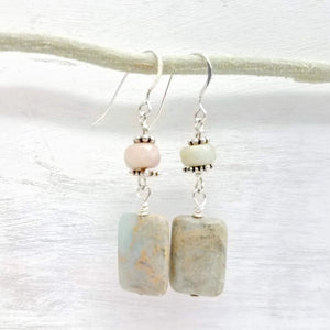 rare impressionist jasper earrings handmade by impromptu jewelry