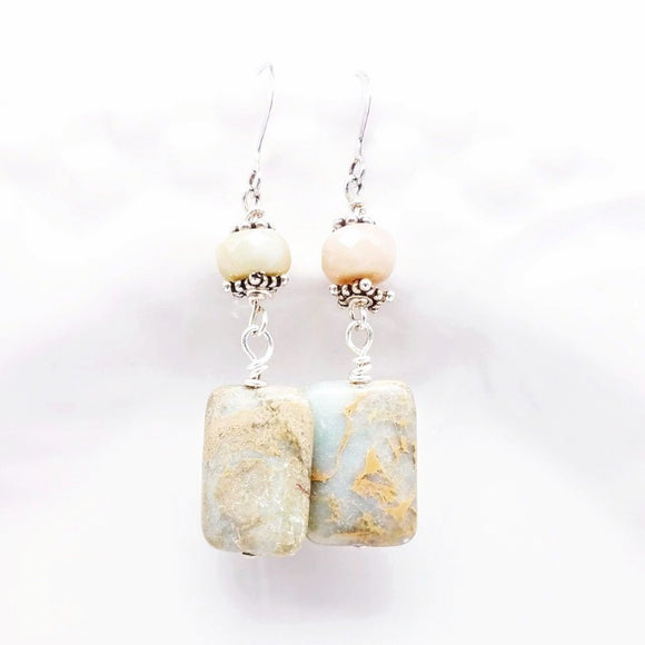 Rare Impressionist Jasper Gemstone Earrings - Impromptu Jewelry