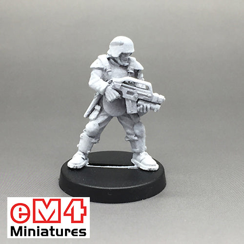 Trooper with a Military Assault Rifle & Comms/Datalink Belt