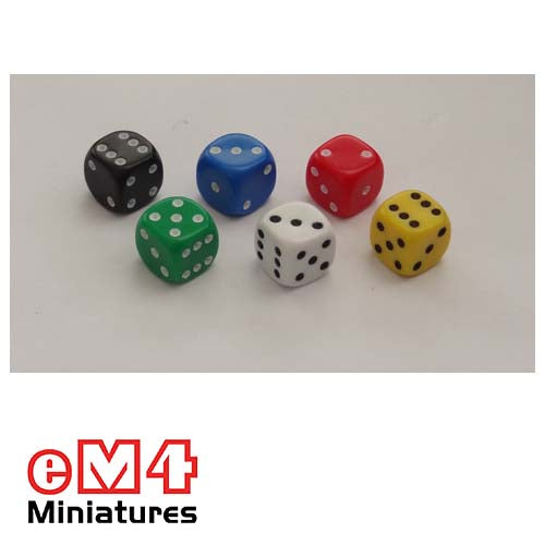 10mm Opaque Spot Dice x 20 - Multiple Colours
