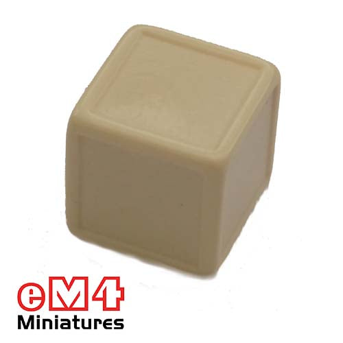 Blank Indented dice 19mm