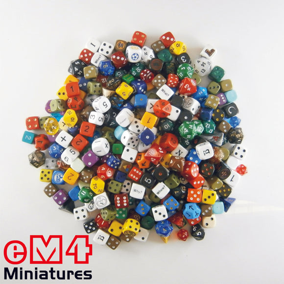 1Kg Assorted Dice (Polys/Spots/Specials)