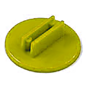 20mm Round Card Stands x 20 - Yellow