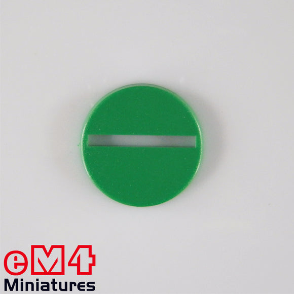 25mm round plastic base green x 20