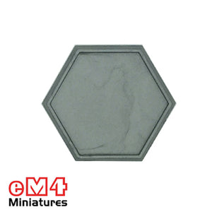 30mm Hexagonal Lipped Mech/Robot Base x 10