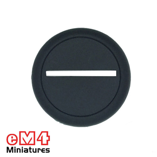 40mm Round Slotted Lipped base x 5