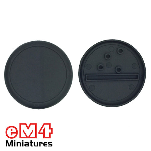 50mm Round Lipped Base x 5