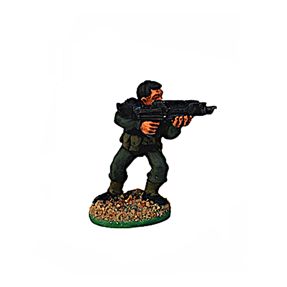 Cybertech S.E.C.S. Troops with Laser Rifle, Firing