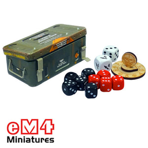Ammo tin - containing 12mm dice, WIR2 dice and life counter