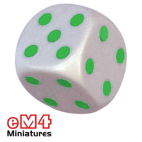 Average dice 16mm green spots