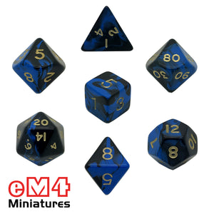 Oblivion Blue 7 Dice Poly Set