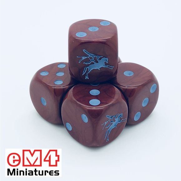 British 6th Airborne 'Red Devils' Dice x 6