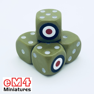 British Generic Dice x 6