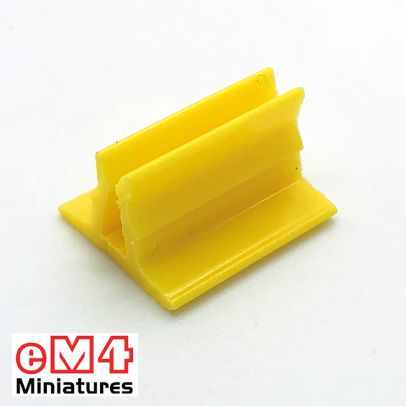 20 x 18mm Card Stands x 20 Various Colours-Yellow