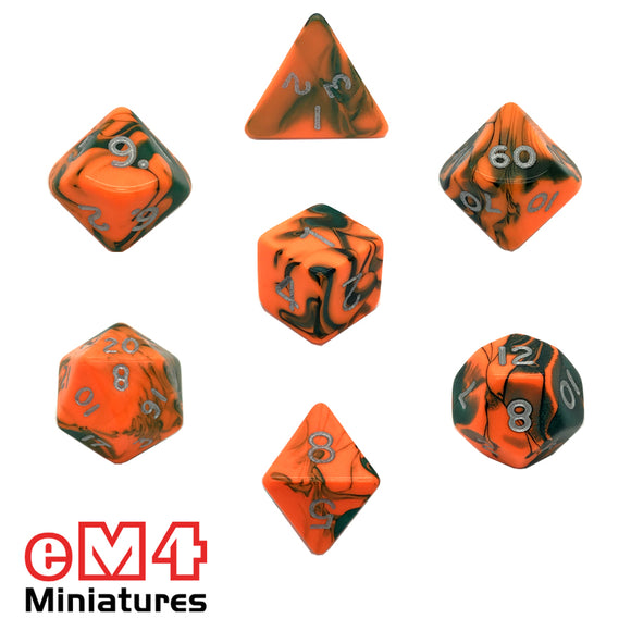 Toxic Chemical 7 Dice Poly Set