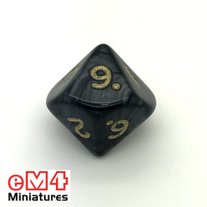 Pearl Black D10 (0-9) Poly Dice