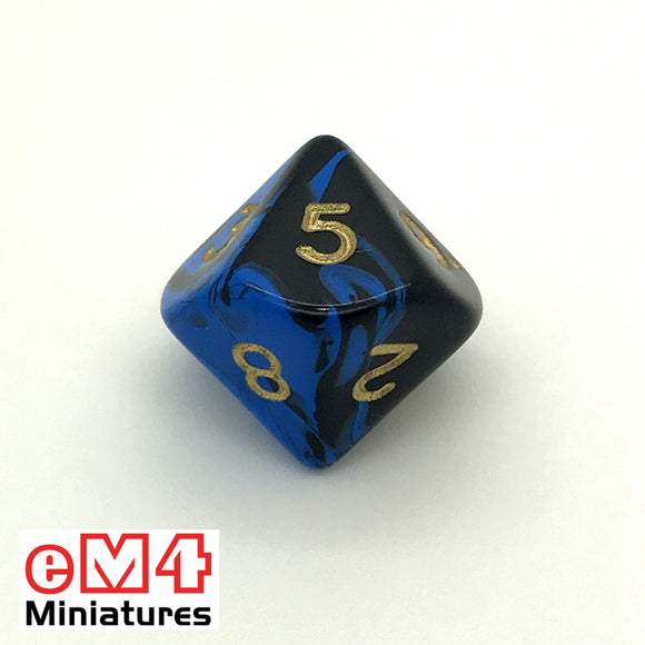 Oblivion Blue D10 (0-9) Poly Dice