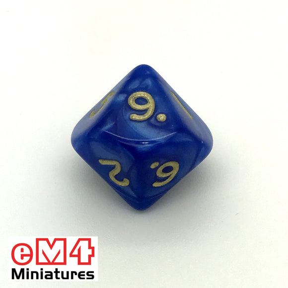 Pearl Blue D10 (0-9) Poly Dice