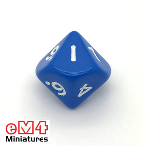 Opaque Blue D10 (0-9) Poly Dice