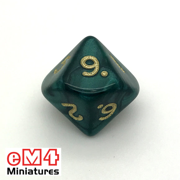 Pearl Green D10 (0-9) Poly Dice