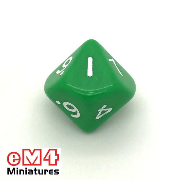 Opaque Green D10 (0-9) Poly Dice