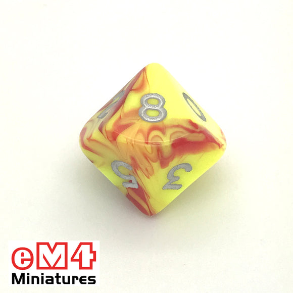 Toxic Ooze D10 (0-9) Poly Dice