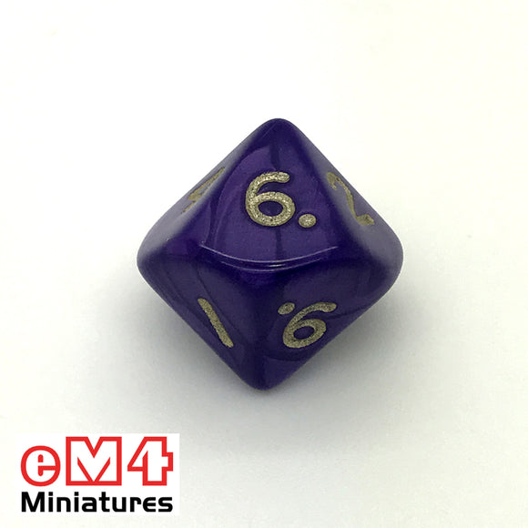 pearl Purple D10 (0-9) Poly Dice