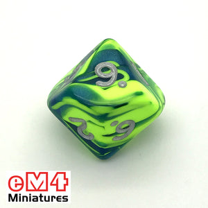 Toxic Slime D10 (0-9) Poly Dice