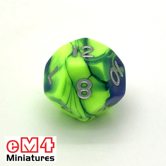 Toxic Slime D12 Poly Dice
