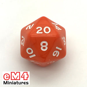Opaque Orange D20 Poly Dice