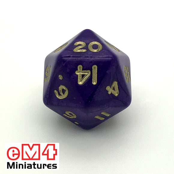 Pearl Purple D20 Poly Dice