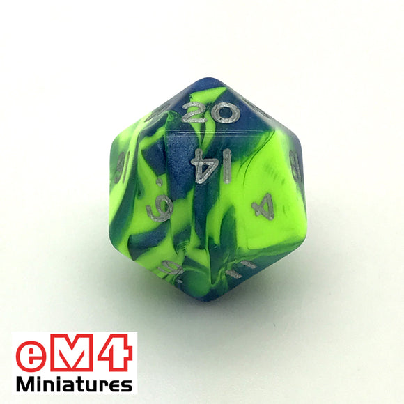 Toxic Slime D20 Poly Dice