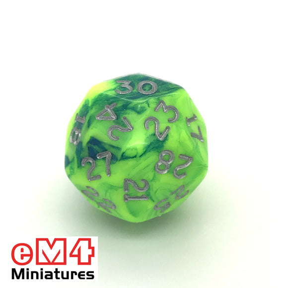 Toxic Slime D30 Poly Dice