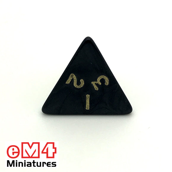Pearl Black D4 Poly Dice