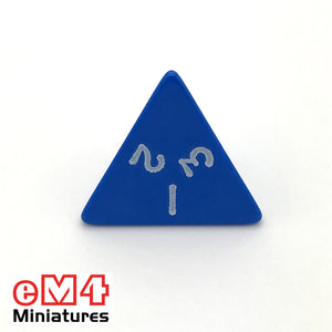 Opaque Blue D4 Poly Dice