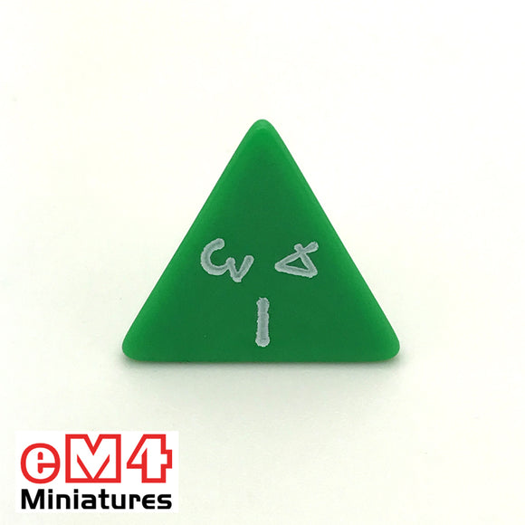 Opaque Green D4 Poly Dice
