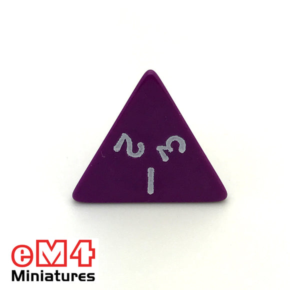 Opaque Purple D4 Poly Dice