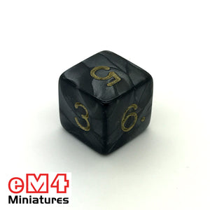 Pearl Black D6 Poly Dice