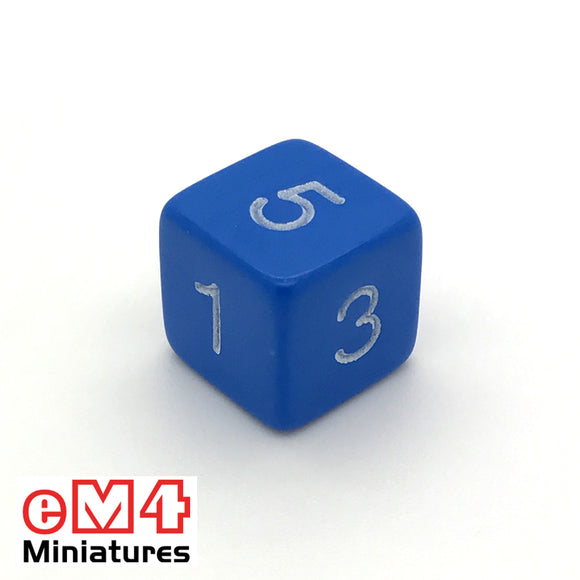 Opaque Blue D6 Poly Dice