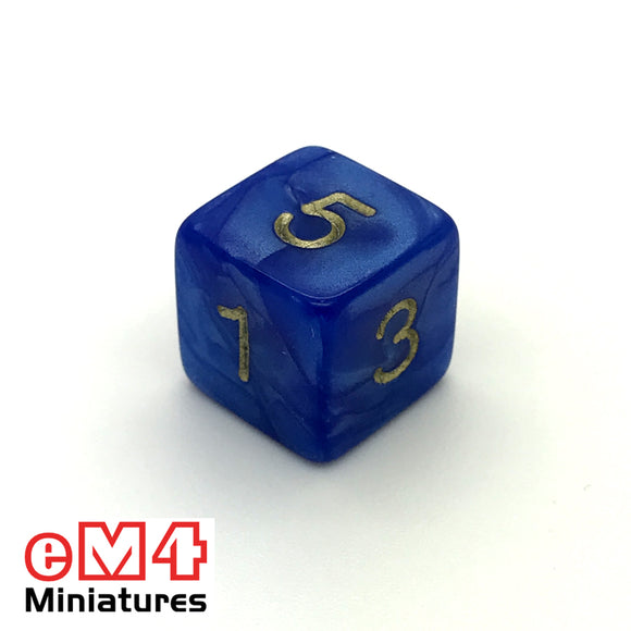 Pearl Blue D6 Poly Dice