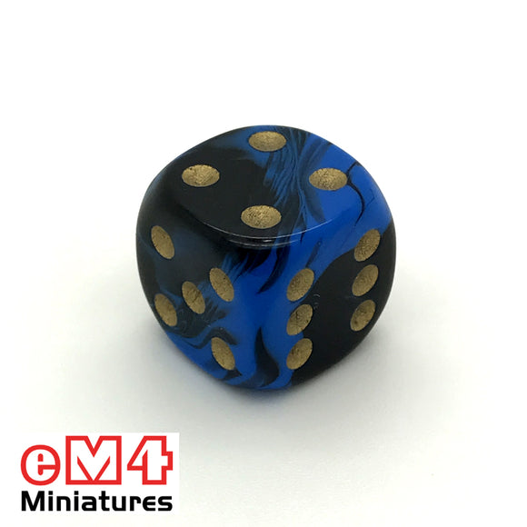 15mm D6 Oblivion Spot Dice Blue x 10