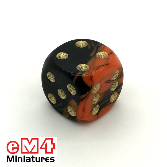 15mm D6 Oblivion Spot Dice Orange x 10