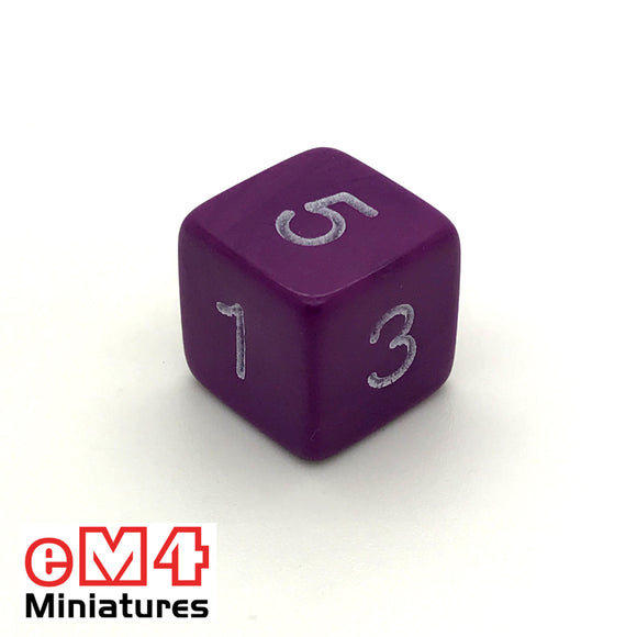 Opaque Purple D6 Poly Dice