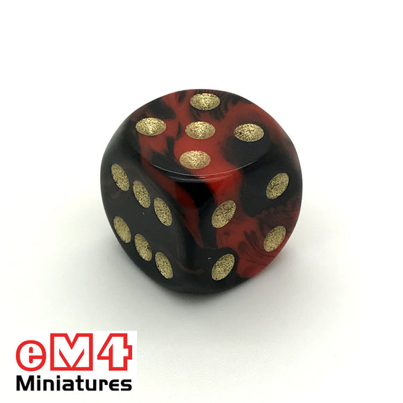15mm D6 Oblivion Spot Dice Red x 10