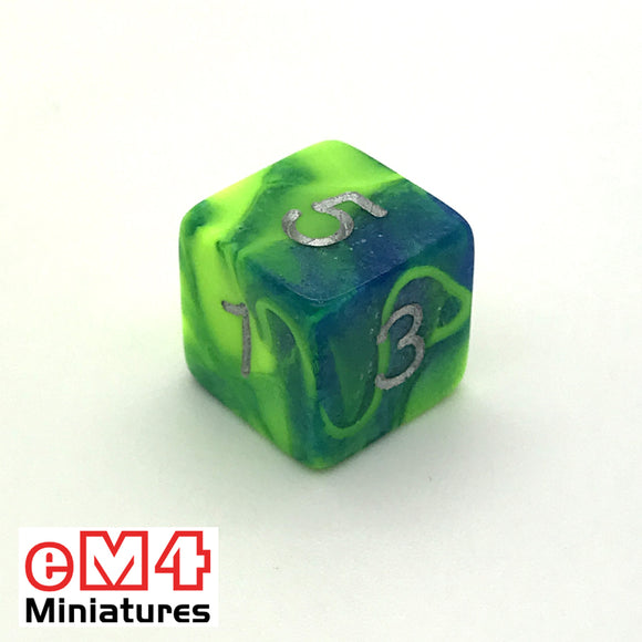 Toxic Slime D6 Poly Dice