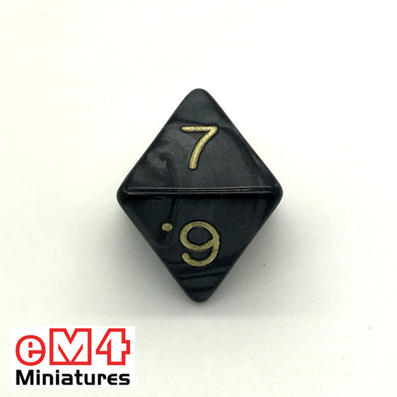 Pearl Black D8 Poly Dice